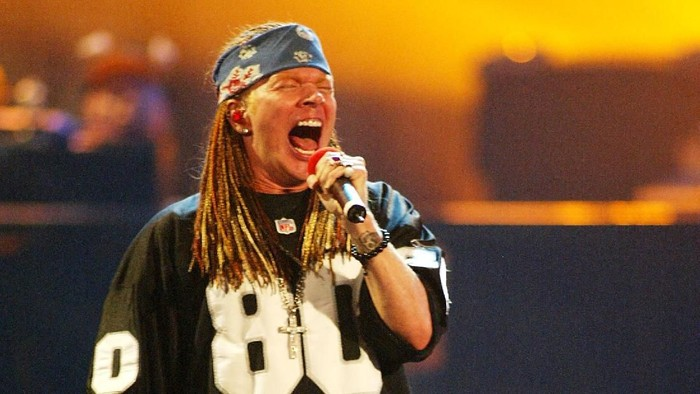 Axl Rose and Guns N Roses performing at the 2002 MTV Video Music Awards at Radio City Music Hall in New York City, August 29, 2002. Photo by Scott Gries/ImageDirect.
