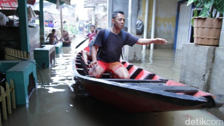 Banjir Masih Menggenangi Tiga Kecamatan di Kabupaten Bandung