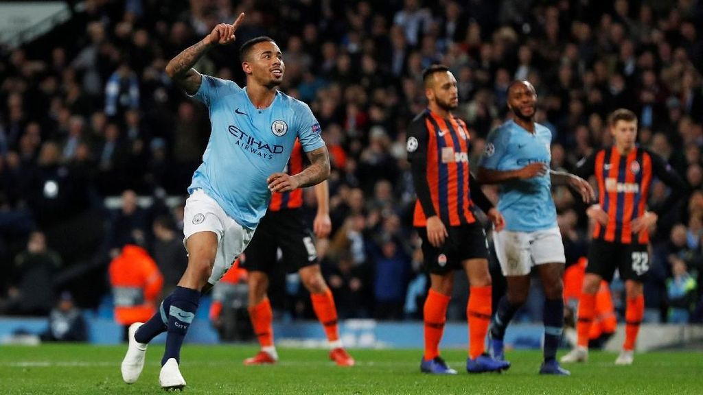 Hasil City Vs Shakhtar: Gabriel Jesus Hat-trick, The Citizens Menang 6-0