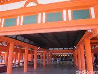 Bagian dalam Kuil Itsukushima (Afif Farhan/detikTravel)