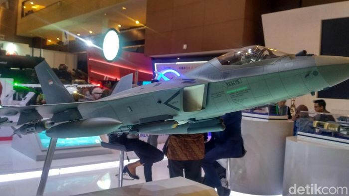 Jet Tempur KFX/IFX/ Foto: Achmad Dwi Afriyadi/detikcom
