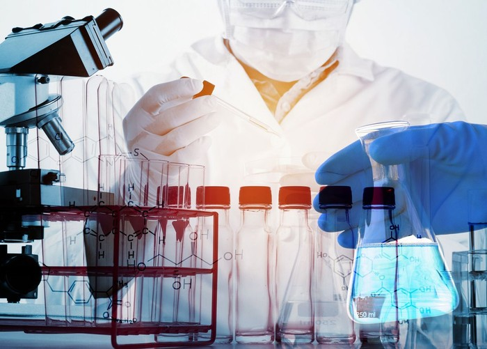Scientists and scientific equipment In the laboratory,Laboratory research concept,science background