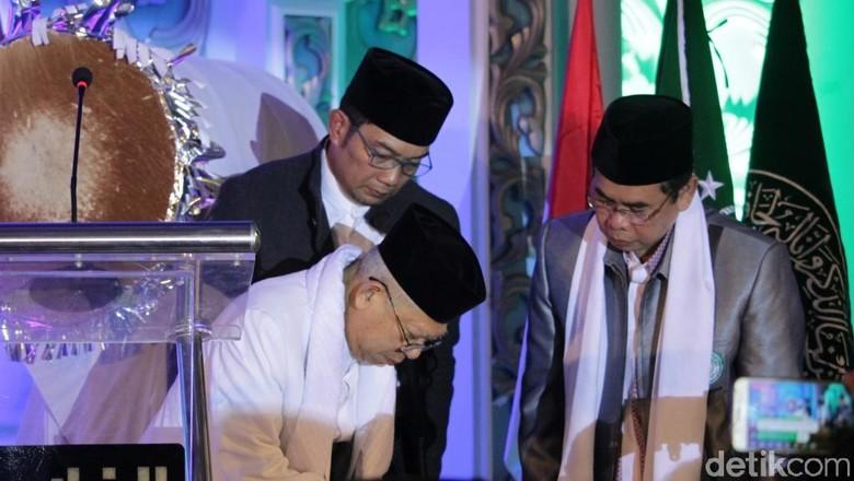 Bersama Ridwan Kamil, Maruf Amin Launching Satu Desa Satu Hafidz