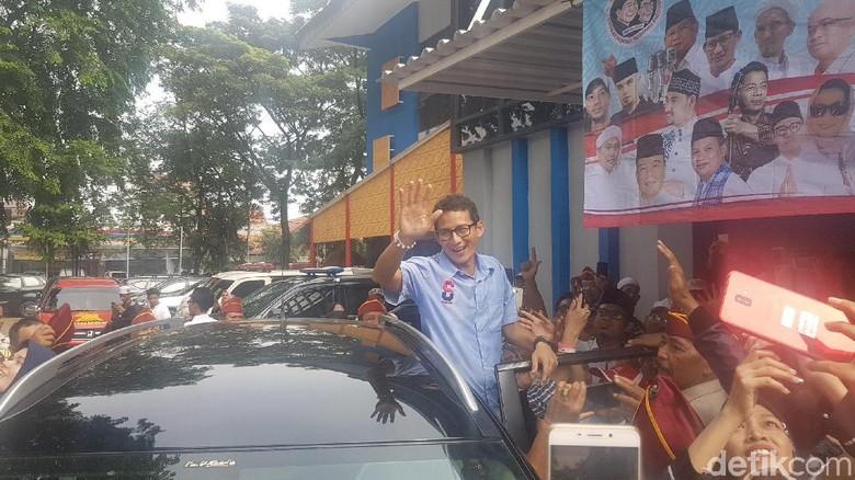 Sandi Minta Relawan Gaet 10 Warga Tiap Hari untuk Pilih Prabowo
