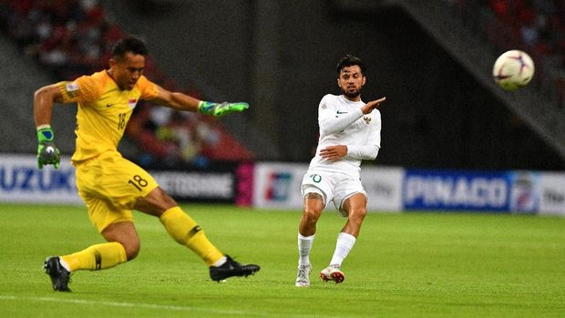 Timnas Indonesia kalah 0-1 dari Singapura di laga pertama Grup B Piala AFF 2018.