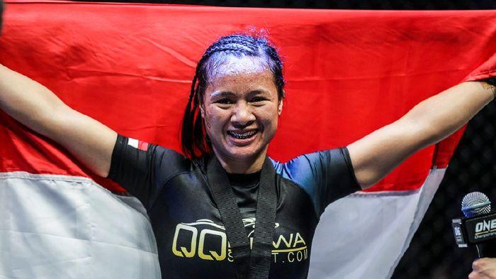 Petarung wanita asal Indonesia Priscilla Lumban Gaol (dok.ONE Championship)