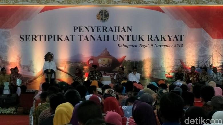 Jokowi Targetkan Semua Bidang Tanah di Tegal Bersertifikat pada 2023