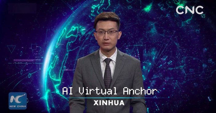 Penyiar virtual. Foto: istimewa