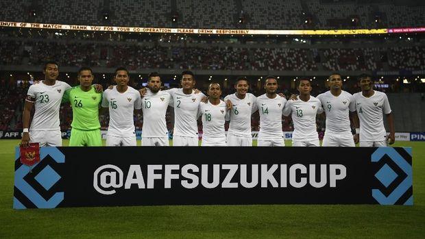 Timnas Indonesia gagal mencetak gol ke gawang Singapura.