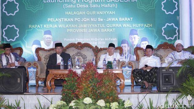 Bersama Ridwan Kamil, Ma'ruf Amin Launching Satu Desa Satu Hafidz