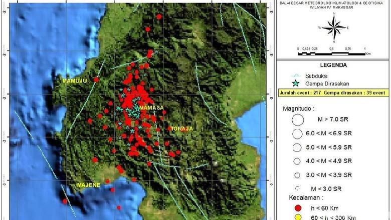 217 Gempa di Mamasa Sulbar Diduga Dipicu Gempa M 7,4 di Sulteng