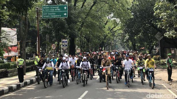 Acara 'Bandung Lautan Sepeda'.