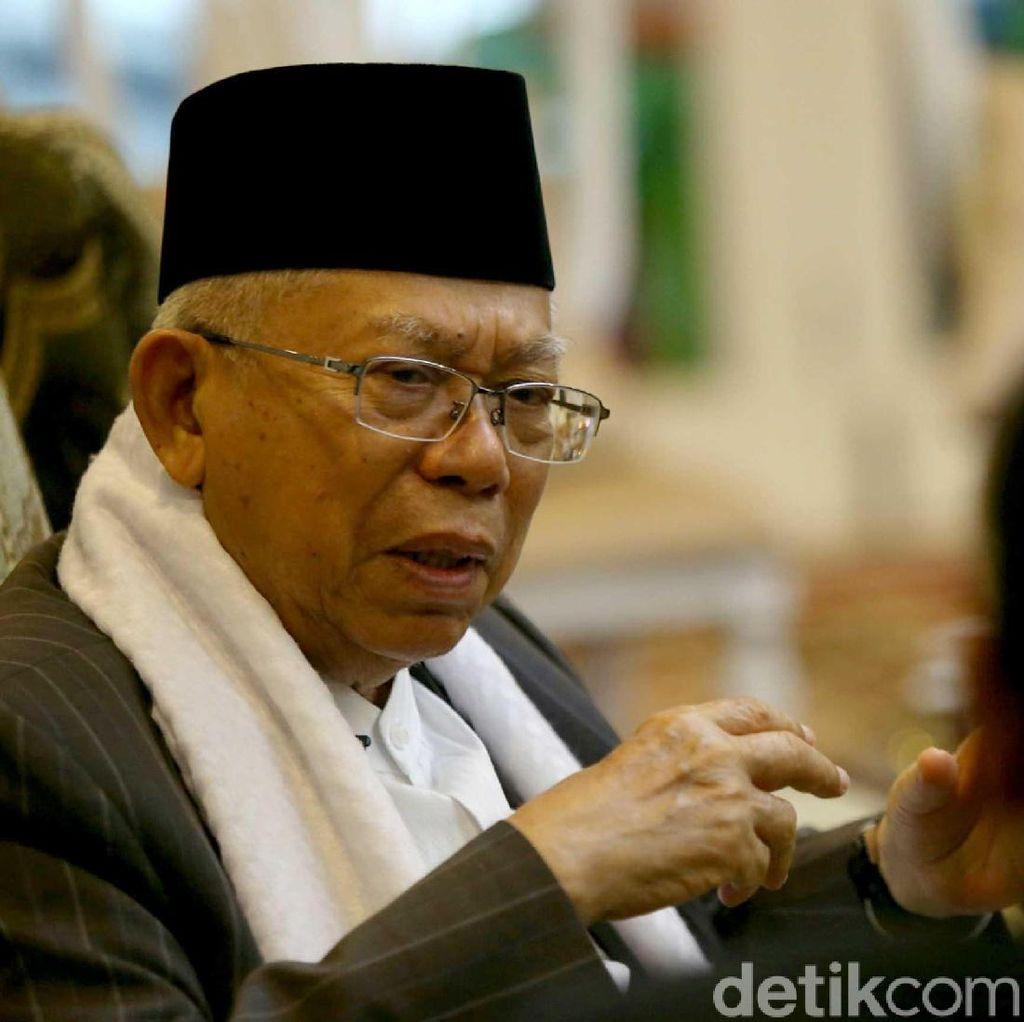 Dukung Jokowi, Maruf Amin: Tak Ada Kriminalisasi Ulama