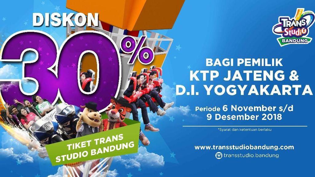 Ber-KTP Jateng-DIY, Trans Studio Bandung Beri Diskon 30%