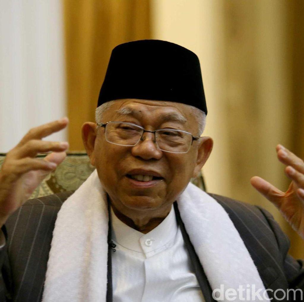 Sempat Bilang Masih Kalah di DKI, Maruf: Tak Benar Itu