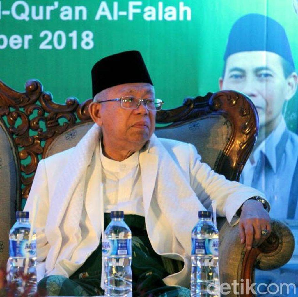 Kala Maruf Amin Pertanyakan Reuni 212