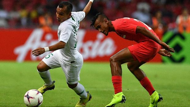 Timnas Indonesia mengalami kekalahan 0-1 dari Singapura pada laga perdana mereka di Piala AFF 2018. (