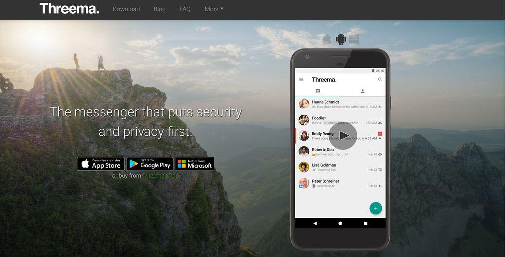 Threema. Aplikasi besutan perusahaan Swiss ini juga mulai mencuri perhatian sebagai salah satu alternatif WhatsApp pada multi platform. Privasi dan keamanan menjadi salah satu aspek kunci yang ditawarkan. (Foto:threema.ch/en)