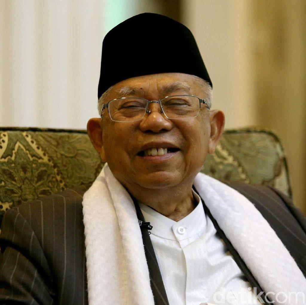 Maruf Amin Masih Tak Boleh Jalan oleh Dokter
