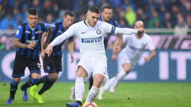Mauro Icardi sudah mencetak delapan gol ke gawang Juventus.