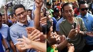 Foto: Sama-sama ke Pasar Hari Ini, Ini Beda Gaya Jokowi dan Sandiaga