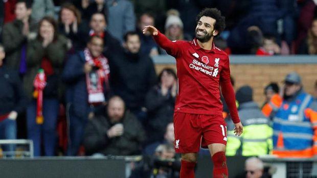 Mohamed Salah tidak mencetak gol ke gawang PSG pada pertemuan pertama di Anfield.