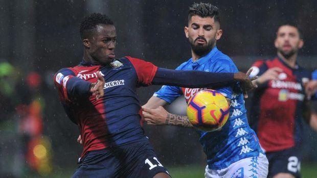 Napoli sempat tertinggal 0-1 dari Genoa. (