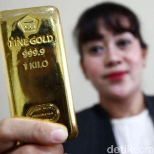 Harga Emas Antam Betah di Rp 758.000/Gram