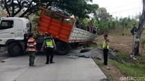 Kecelakaan Truk di Grobogan, Jalur Purwodadi-Solo Macet