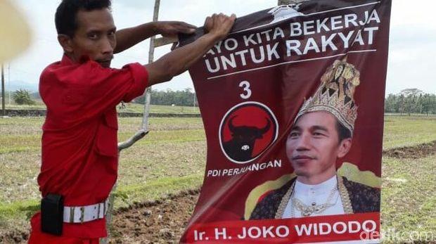 Ribuan poster Jokowi dicopoti kader PDIP