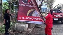 PDIP Jateng Copoti Ribuan Poster Bergambar Jokowi, Ada Apa?