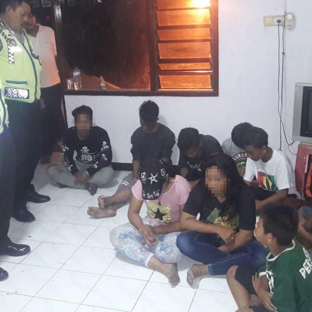 10 Anak yang Tertangkap Basah Ngelem Menginap Semalam di Polsek