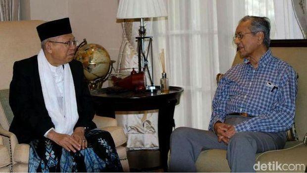 KH Ma'ruf Amin bertemu PM Malaysia Mahathir Mohamad, 9 September 2018