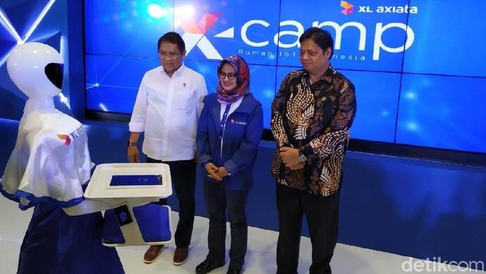 XL Axiata memperkenalkan X-Camp, sebuah laboratorium IoT (Foto: Agus Tri Haryanto/detikINET)