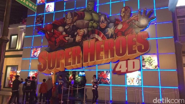 Wahana Marvel Super Heroes 4D Trans Studio Bandung (Erna/detikTravel)
