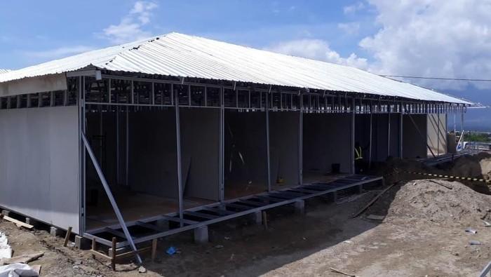 Huntara yang dibangun untuk korban gempa Palu (Foto: Istimewa/Kementerian PUPR)