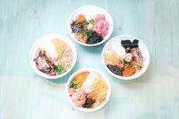 Pingoo Restaurant menawarkan empat varian poke bowl yang nikmat