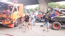 Truk Terguling di Koja Jakut, Lalin Tersendat