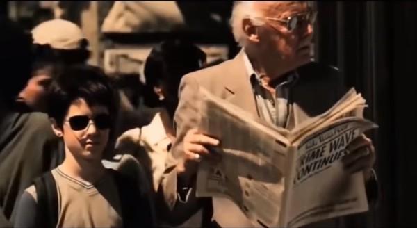 Dalam film Daredevil yang rilis tahun 2003, Stan Lee tampil sebagai kakek tua yang ditolong oleh Matt Daredevil Murdock (Diperankan Ben Affleck) saat kecil akibat keasyikan baca koran di jalan. Lokasinya ada di New York, mungkin sekitar 363 South 4th Street (Marvel Enterprises)