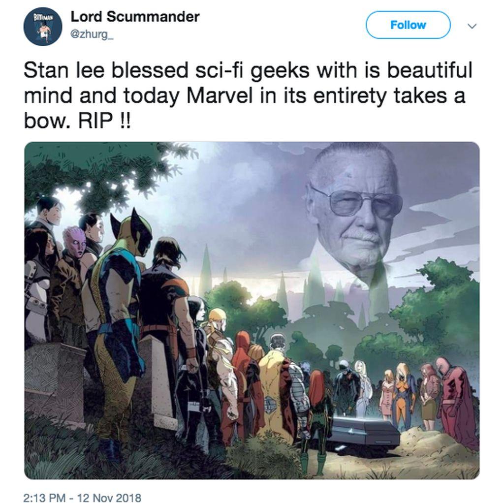 Netizen dan Para Superhero Ratapi Kepergian Stan Lee