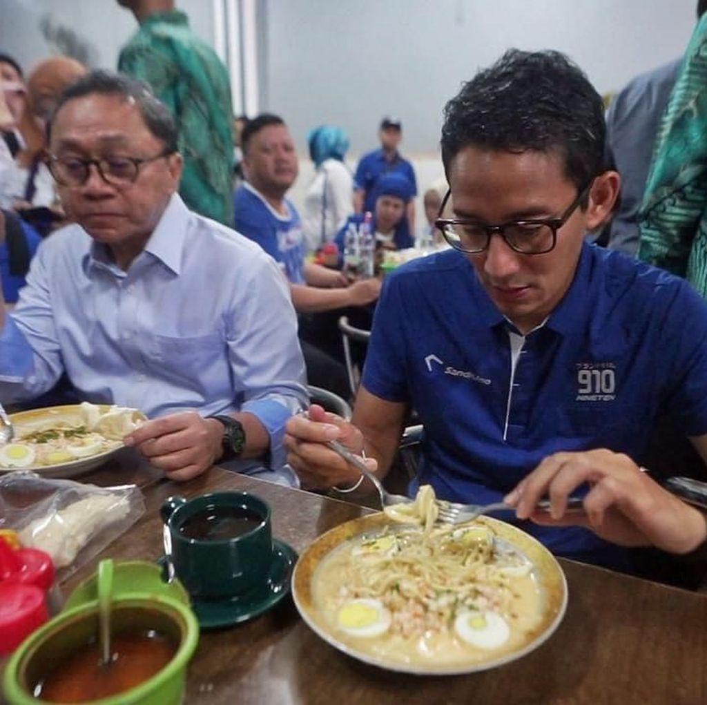 Sambil Santap Mi Celor Palembang, Sandi Bicara Lapangan Kerja