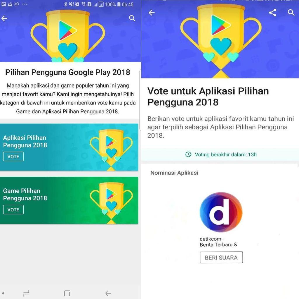 Ayo, Dukung Detikcom Jadi Aplikasi Favorit di Play Store