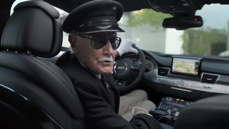 Stan Lee Jadi Sopir Audi S8. Foto: Istimewa