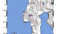 Gempa M 3,3 Terjadi di Mamasa Sulbar