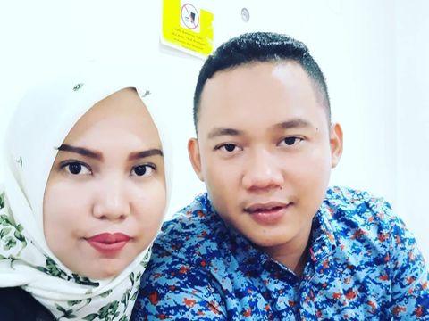 Intan Indah Syari dan mendiang calon suaminya