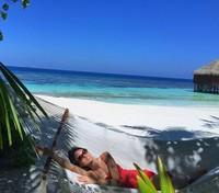 Kalau ini, Ling Tan saat bersantai di Maldives. (Instagram/@lingtan_)