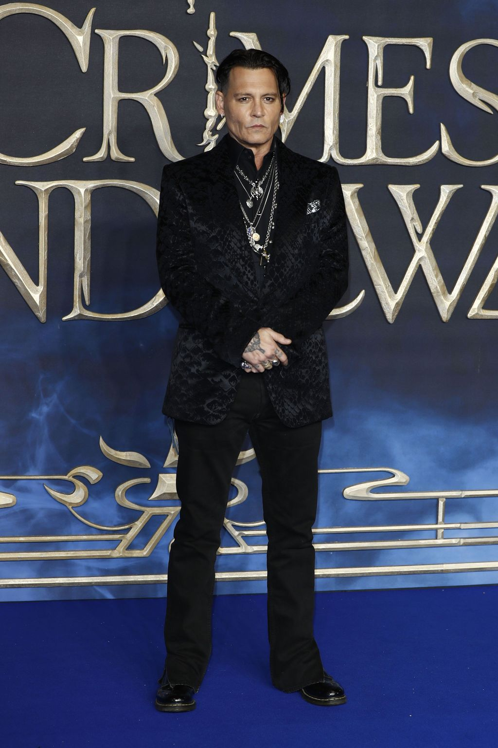 LONDON, ENGLAND - NOVEMBER 13: Johnny Depp attends the UK Premiere of