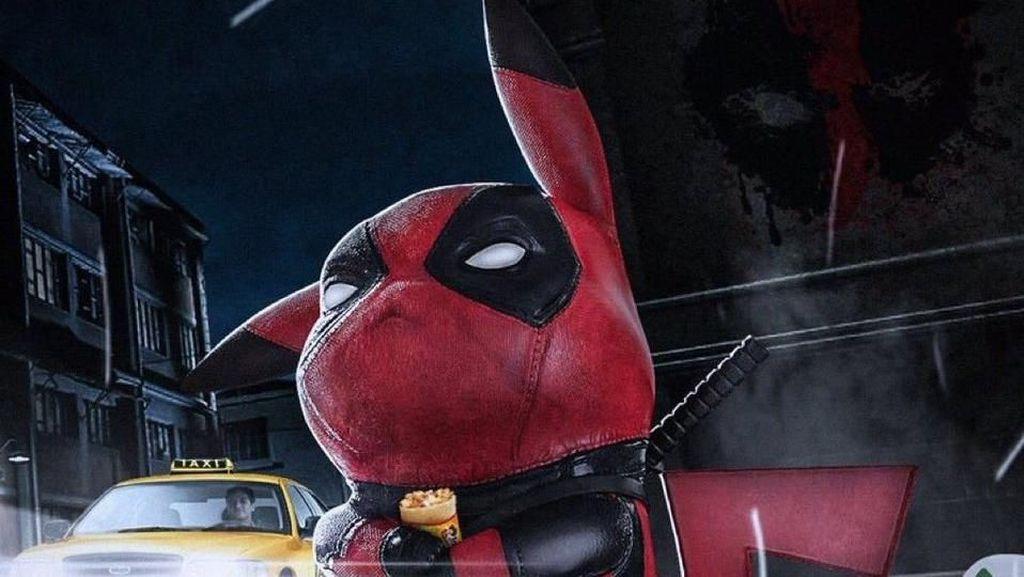 Iseng, Fans Buat Meme Detective Pikachu Imut Berubah Jadi Deadpool