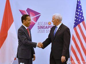 Jokowi Temui Wapres AS di Singapura, Bahas Keamanan hingga Bencana