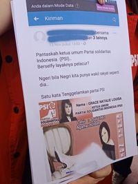PSI Polisikan Akun Facebook yang Tuding Grace Natalie Pelacur